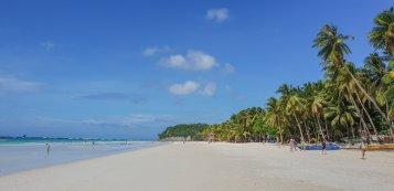 the long white beach